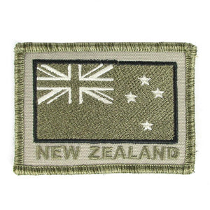 NZ Flag Subdued Embroidered Patch