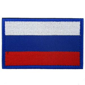 Russian Flag Embroidered Patch