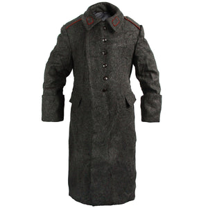 Bulgarian Dark Grey Wool Overcoat