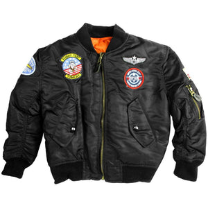 Kids MA1 Jacket with patches