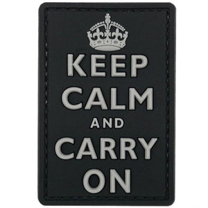 Keep Calm PVC Patch - Grey