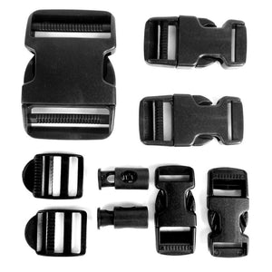 Black 9 Piece Buckle Set