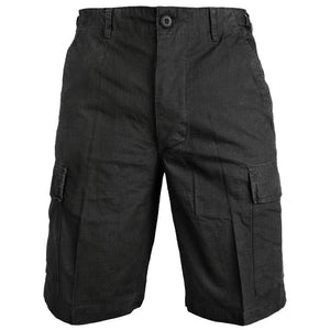 Black Ripstop BDU Shorts