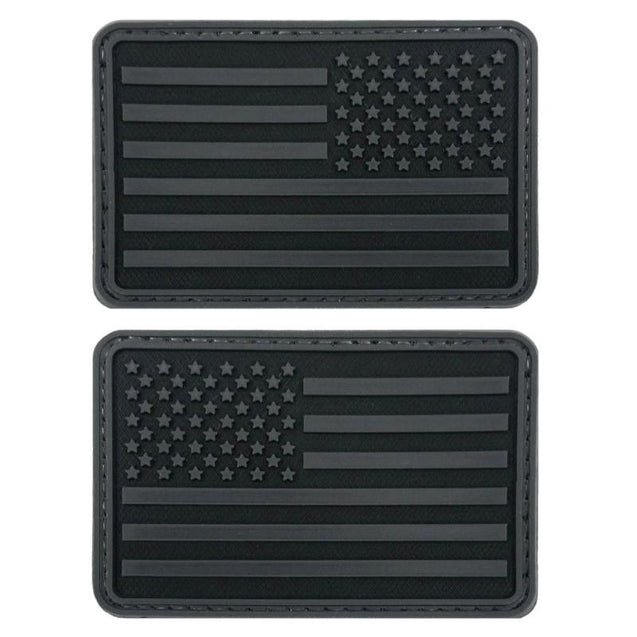 US Flag PVC Patch - Black