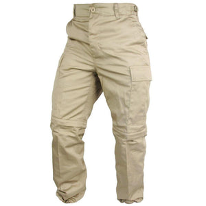 Khaki Zip Off BDU Trousers