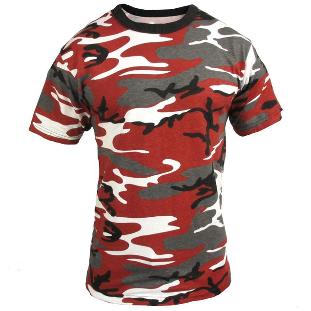 Coloured Camo T-Shirt - Red