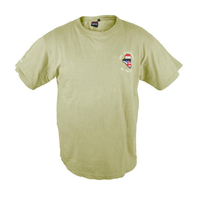 British Khaki T-Shirt with Embroidered Unit