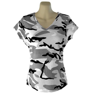 Womans Camo V-Neck