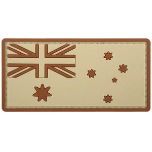 Australia Flag PVC Patch - Tan