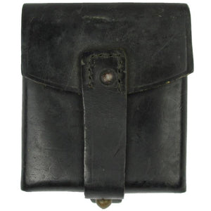 Italian Black Leather Cartridge Pouch