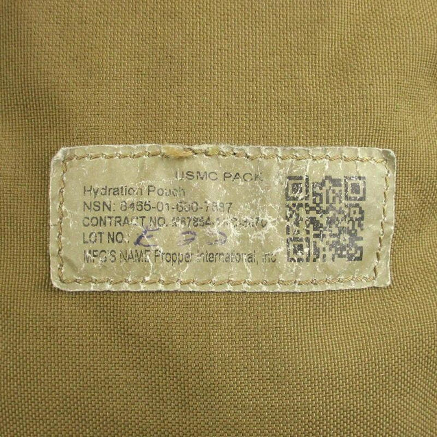 USMC Coyote FILBE Hydration Pouch