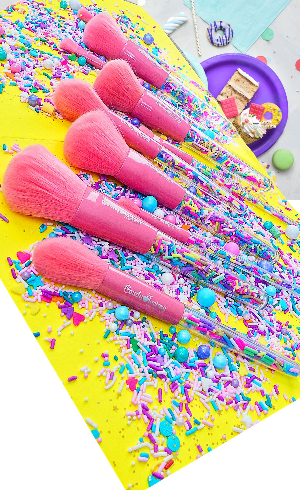 Sprinkle Brush Collection - Candy Factory Cosmetics