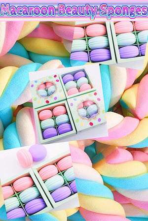 Macaroon Beauty Sponges - Candy Factory Cosmetics