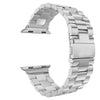 38/40mm-42/44mm Stainless Steel Linked Watchband for Apple Watch, Silver or Black