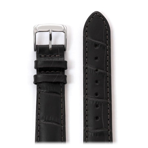 Men's Alligator Matte Leather Band in Black and Brown