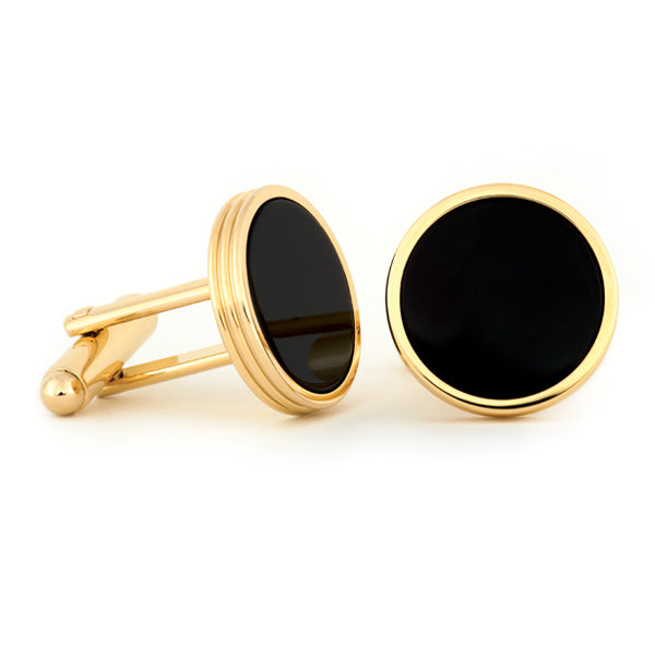 Concentric Cuff Links w/ Black Onyx