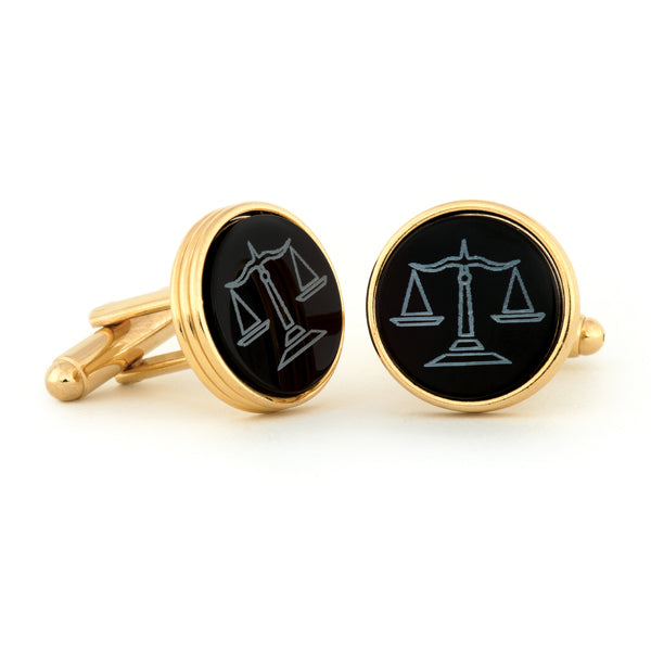 GT Scales of Justice Cuff Links