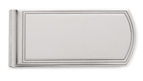 Sterling Silver Money Clip w/ Double Line Border