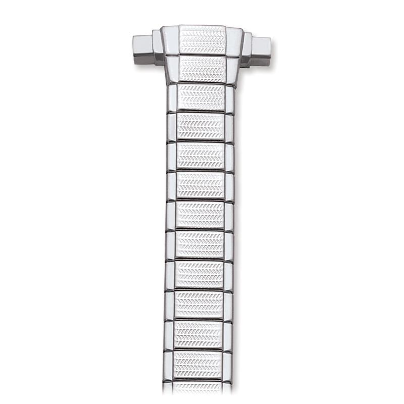 Ladies 10-14MM Twist-O-Flex Classic  Adjustable Straight End Band in Silver, Gold and Dual Tone