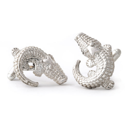 Sterling Silver Alligator Cuff Links