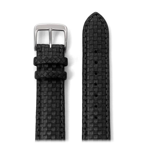 Mens Carbon Fiber Leather Watchband