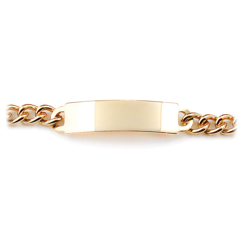 Men's ID Tailored Bracelet with Polished Plaque