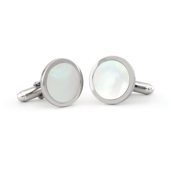 Sterling Silver Mother of Pearl Cuff Links