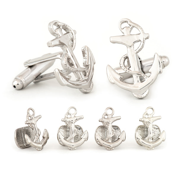 Anchor Cuff Links & Studs Set
