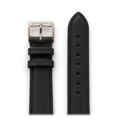 Men's Stitched Calfskin Leather Band in Black, Brown, Navy and Gray