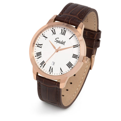 Men's Leather Roman Numeral Watch Collection