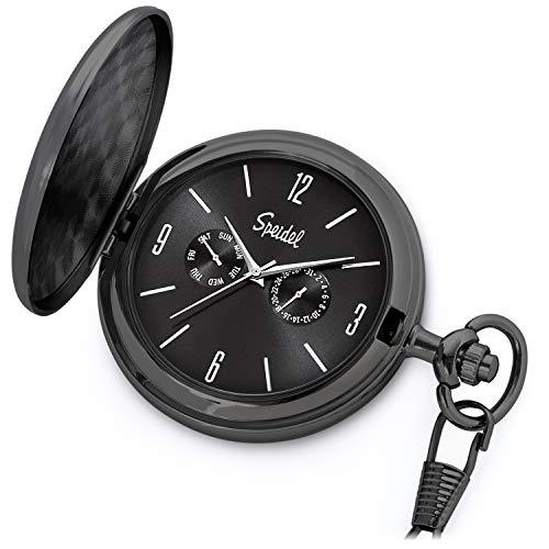 Black Pocket Watch From Speidel, Simple And Elegant Pocket Watch