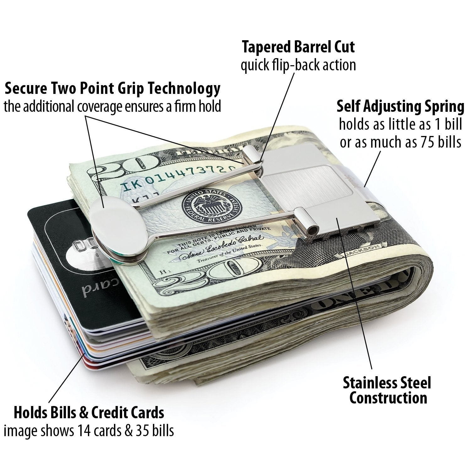 1def6a192521 Bill Binder - Metal Money Clip And Credit Card Holder For Men | Speidel