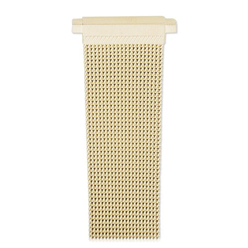 Mens 18-22MM Stainless Steel Mesh Band with Straight Adjustable End in Gold, Silver or Black
