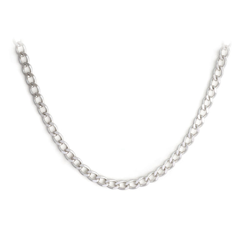 Sterling Silver Curb Necklace