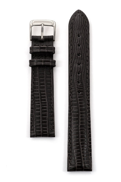 Men's Padded Gator Lizard Leather Band in Black and Brown