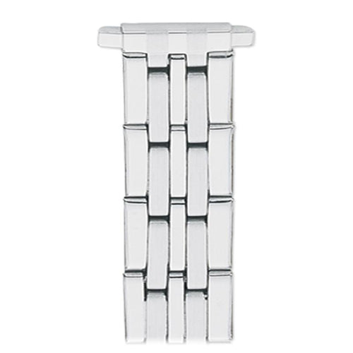 Ladies'  10-14MM Straight Adjustable End Wrapped Link Band in Silver