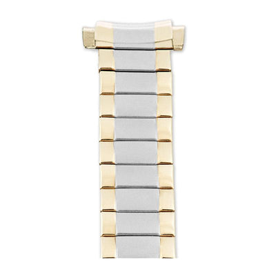 Ladies 10-14MM Twist-O-Flex Classic  with Straight or Curved Adjustable End Band in Silver, Gold and Dual Tone