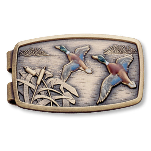 Enamel Ducks Money Clip