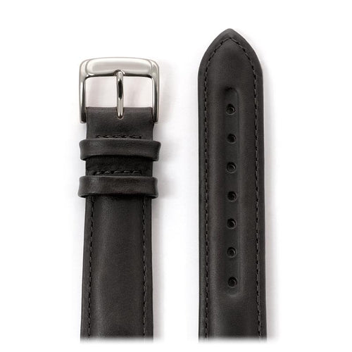 Men's Oiled Leather Band in Black and Brown