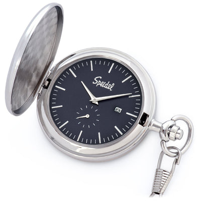 Classic Brushed Satin Pocket Watch Collection with Date Window & Seconds Sub-Dial