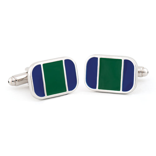 Hand Enameled Cuff Links