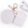 Fashion Apple Air Pod Case Protector With Decorative Pom Pom Fur Ball
