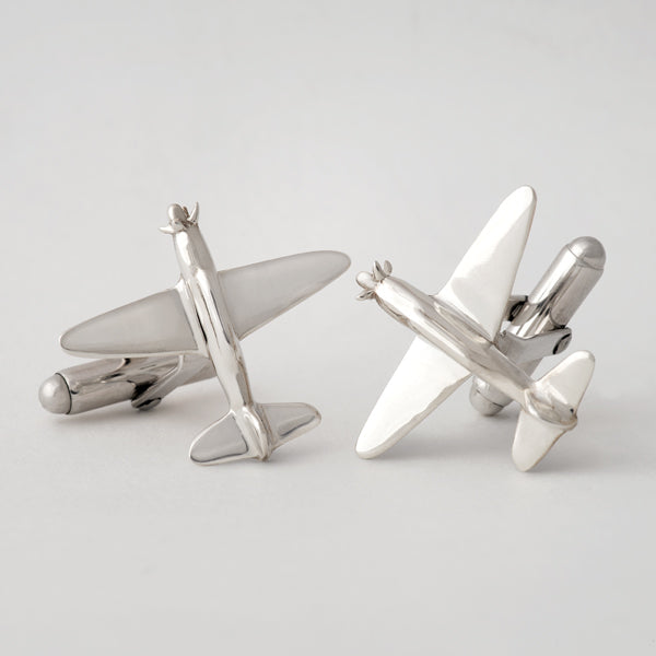 Sterling Silver Airplane Cuff Links