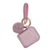 Fashion Apple Air Pod Case Protector With Decorative Bling Strap and Ball