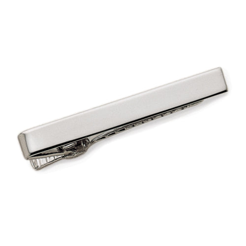 Sterling Silver Plain Tie Bar