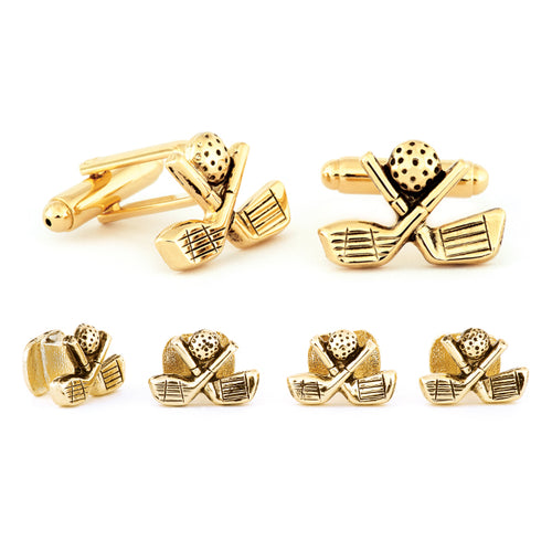 Golf Cuff Link & Stud Set