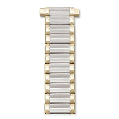 Ladies 10-14MM Twist-O-Flex Classic Band with Adjustable Straight or Curved End in Silver, Gold, Dual Tone and Rose Gold