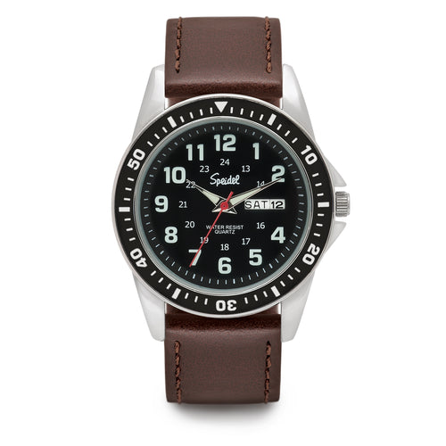 Men's Leather Diver Watch
