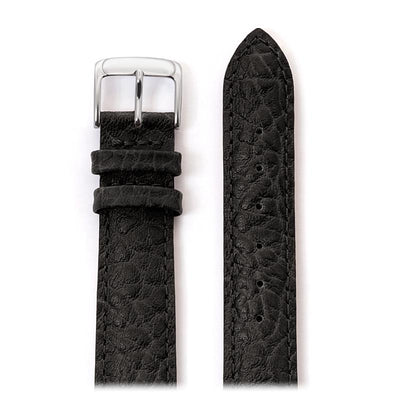 Men's Heavy Texture Buffalo Grain Watchband in Black, Brown and Honey