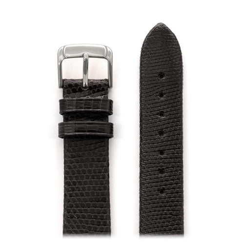 Men's Genuine Lizard Band in Black and Brown